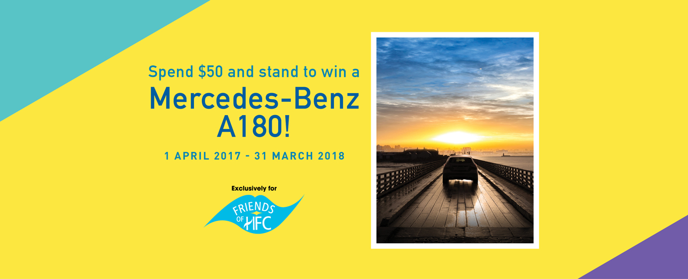 Spend $50 and Stand To Win A Mercedes-Benz A180!